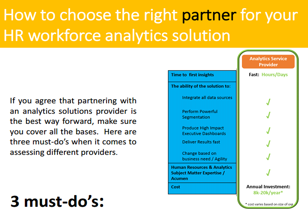 Choose Workforce Analytics Partner