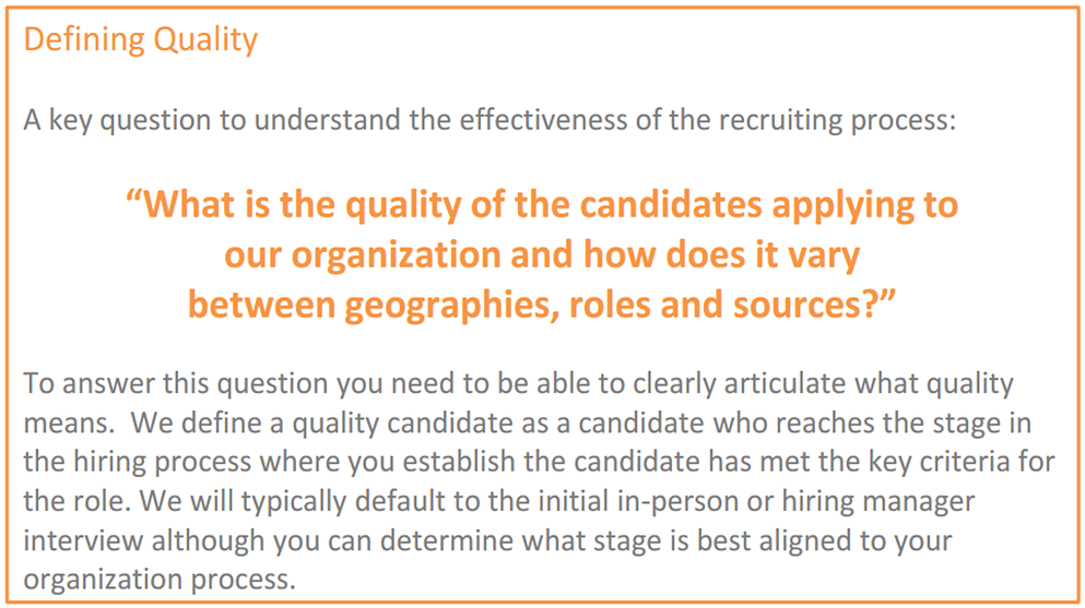 Recruitment Effectiveness