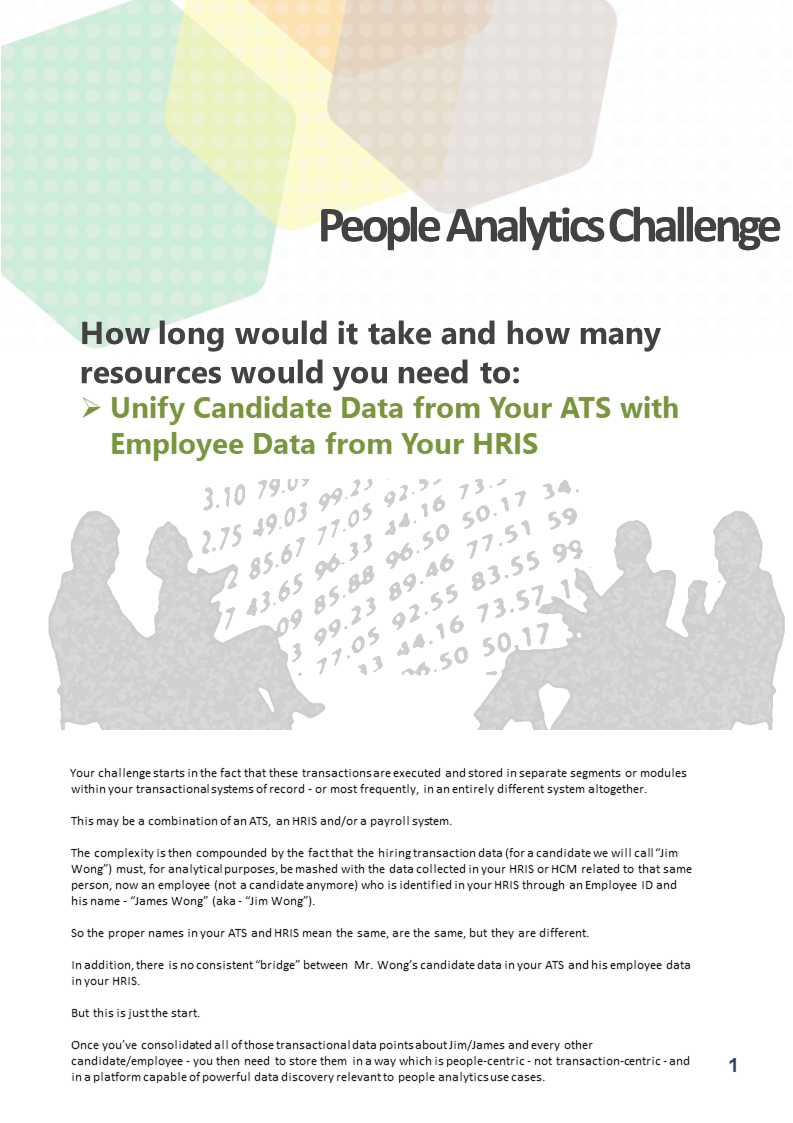 Could You Deliver on This People Analytics Challenge? Unify Candidate Data (ATS) with Employee Data (HRIS)