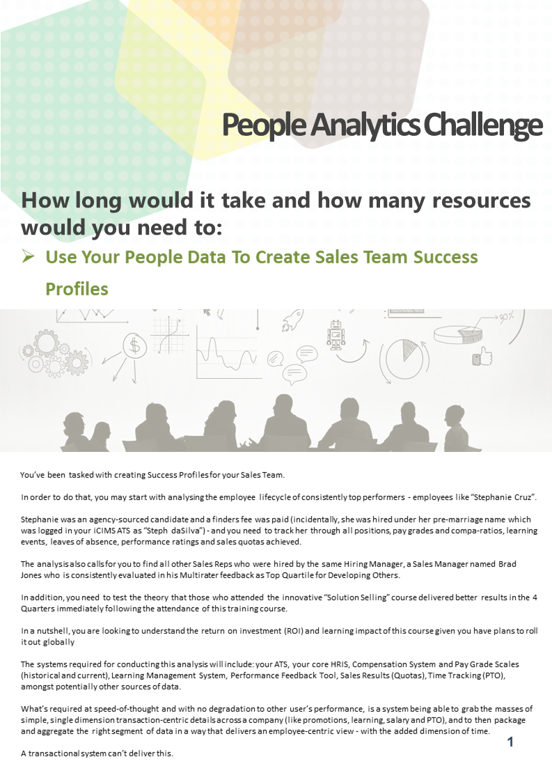 Could You Deliver on This People Analytics Challenge? - Use Your People Data to Create Success Profiles